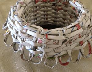 Gazeteden Sepet Nasıl Yapılır? 12