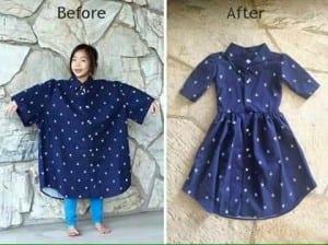 Gömlekten Elbise Yapımı 17