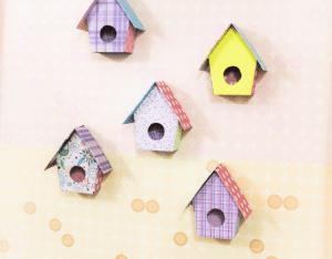 Karton Kutudan Kuş Evi Yapımı 16