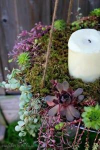 Minyatür Bahçe Mumluk Yapılışı 5