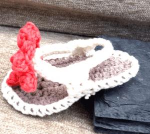Örgü Bebek Terlik Yapılışı 63