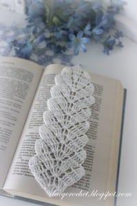 Örgü Yaprak Kitap Ayracı Yapımı 1