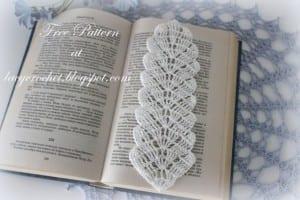 Örgü Yaprak Kitap Ayracı Yapımı