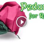 Origami Çiçek Taç Yaprağı  Yapılışı