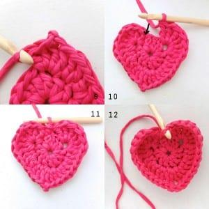 Penye İpten Kalp Sepet Yapılışı 1