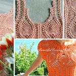 Tığ İşi Ananas Örgü Modeli Yazlık Bluz Yapımı 8