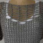 Tığ İşi Kafes Örgü Yazlık Bluz Modeli Yapılışı 4