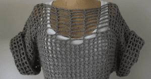 Tığ İşi Kafes Örgü Yazlık Bluz Modeli Yapılışı