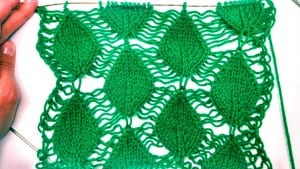 Videolu, Ajurlu Yaprak Örgü Modeli Yapımı 1
