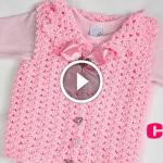Videolu, Kolay Tığ İşi Kız Bebek Yeleği Yapılışı