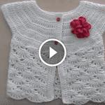 Videolu, Yakadan Başlamalı Örgü Bebek Yelek Modeli Yapılışı