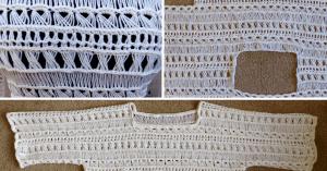 Videolu, Oklava Örgü Modeli Yazlık Dantel Bluz Yapımı