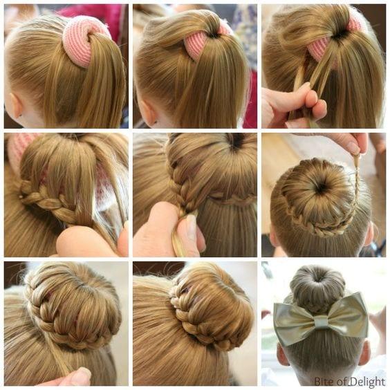 Детские причёски на длинный волос