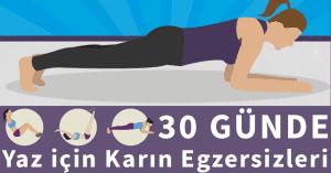 30 Günde Yaz için Karın Egzersizleri