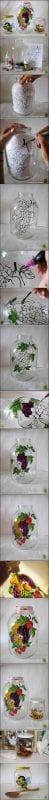+90 Değişik Kavanoz Süsleme Örnekleri 18