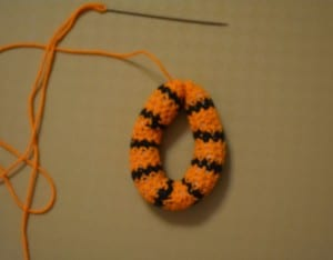 Amigurumi Tiger Çıngırak Yapılışı 15