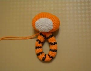 Amigurumi Tiger Çıngırak Yapılışı 25