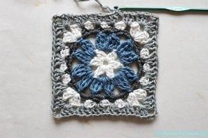 Anemon Çiçeği Bebek Battaniyesi Yapılışı 10