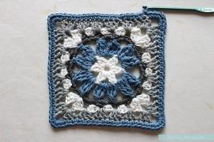 Anemon Çiçeği Bebek Battaniyesi Yapılışı 15