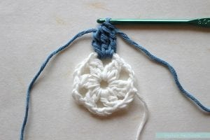 Anemon Çiçeği Bebek Battaniyesi Yapılışı 16