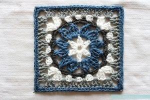 Anemon Çiçeği Bebek Battaniyesi Yapılışı 17