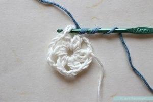 Anemon Çiçeği Bebek Battaniyesi Yapılışı 3