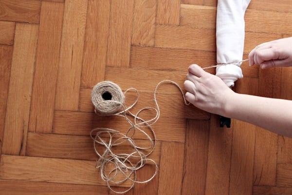 Shibori pole wrapping techniques