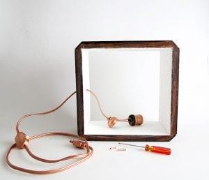 DIY, Ahşap Küp Lamba Yapılışı 7