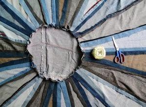 DIY, Eski Kot Pantolondan Halı Yapılışı 8