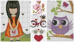 +130 Farklı Kanaviçe Örnekleri ve İşleme Şablonları