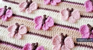 Kelebekli Bebek Battaniyesi Yapılışı 30