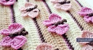 Kelebekli Bebek Battaniyesi Yapılışı 31