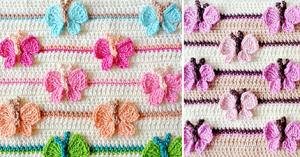 Kelebekli Bebek Battaniyesi Yapılışı