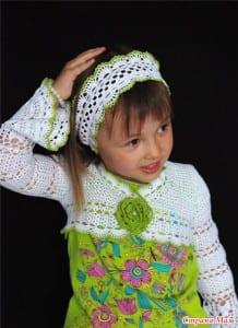 Kız Çocukları için Dantel Bolero Yapılışı 35
