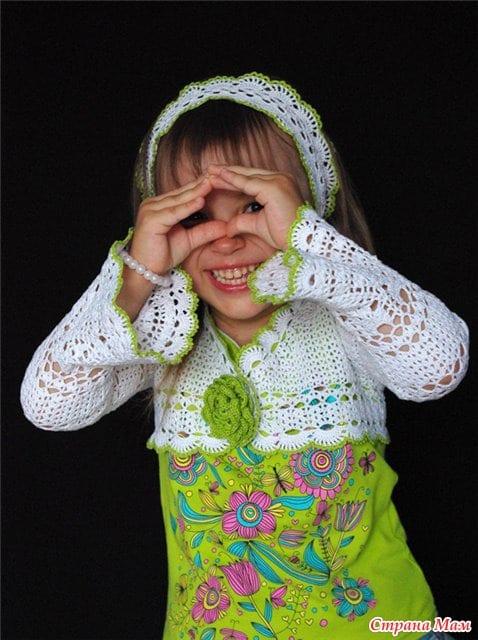 Kız Çocukları için Dantel Bolero Yapılışı 36