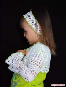 Kız Çocukları için Dantel Bolero Yapılışı 37