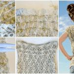 Oklava Örgü Modeli Kısa Kollu Bluz Yapılışı 11