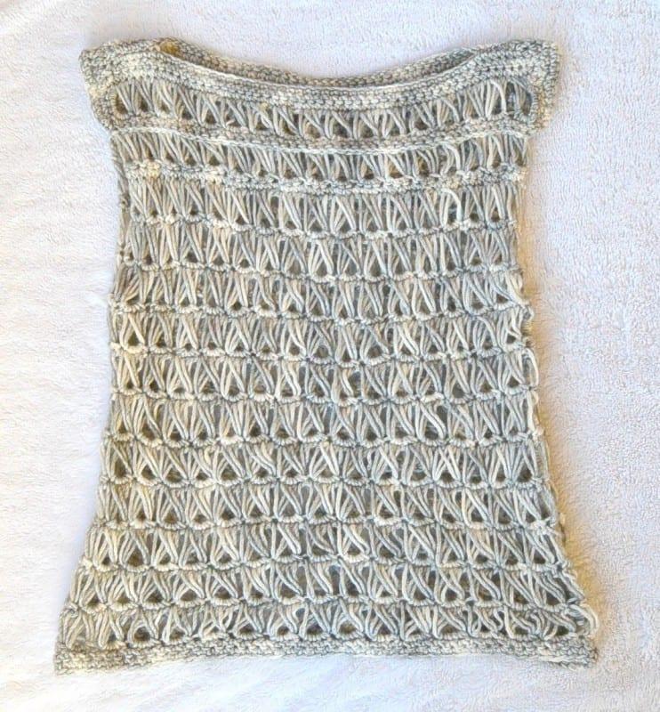 Oklava Örgü Modeli Kısa Kollu Bluz Yapılışı 8