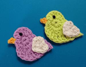Örgü Aplike Aşık Kuşlar Yapılışı 3