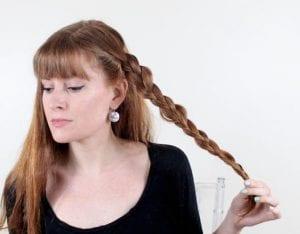 Örgü ile Romantik Saç Modeli Yapılışı 1