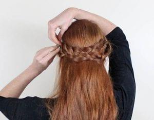 Örgü ile Romantik Saç Modeli Yapılışı 5