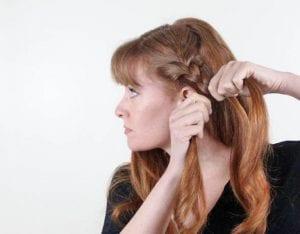 Örgü ile Romantik Saç Modeli Yapılışı 7