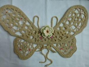 Örgü Kelebek Kanadı Nasıl Yapılır? 12