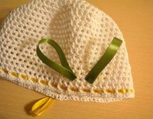 Örgü Yazlık Şapka Süsleme Çiçek Yapımı 8