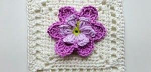 Videolu, Bahar Çiçekleri Motifli Bebek Battaniyesi