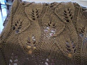 Yaprak Desenli Bebek Battaniyesi Yapılışı