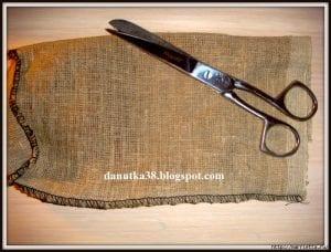 Çuval Bezi ve Hasır İpten Biblo Melek Yapımı 1