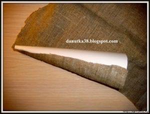 Çuval Bezi ve Hasır İpten Biblo Melek Yapımı 4
