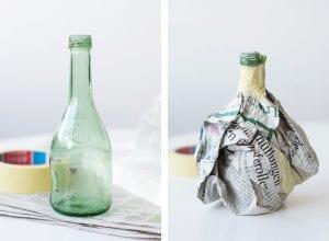 DIY, Cam Şişeden Dekoratif Vazo Yapımı 5