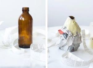 DIY, Cam Şişeden Dekoratif Vazo Yapımı 6